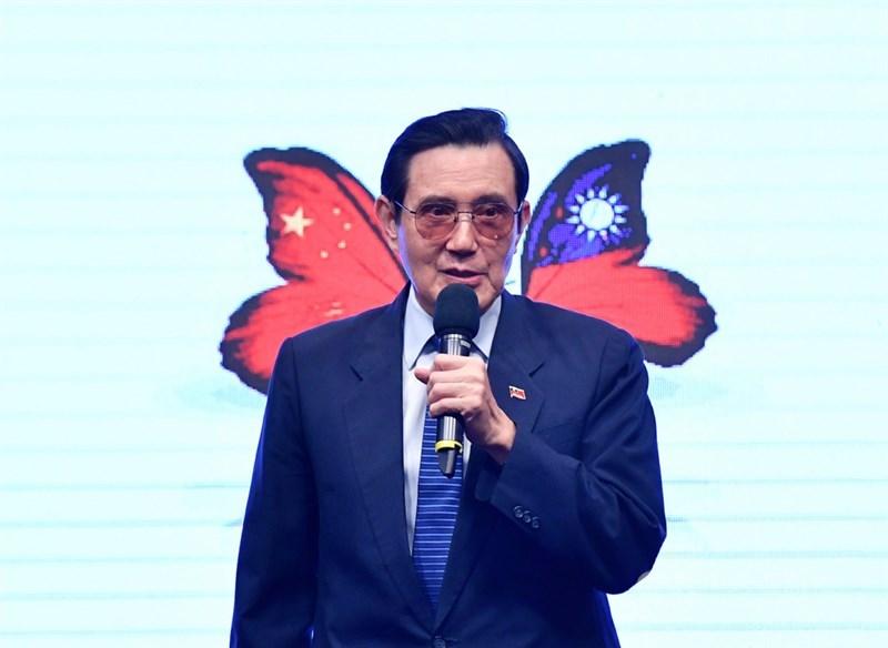 前總統馬英九25日表示,有人稱紀念台灣光復是與中共唱和一中原則,實在太離譜,希望民進黨的朋友多讀點近代史再批評。(中央社檔案照片)