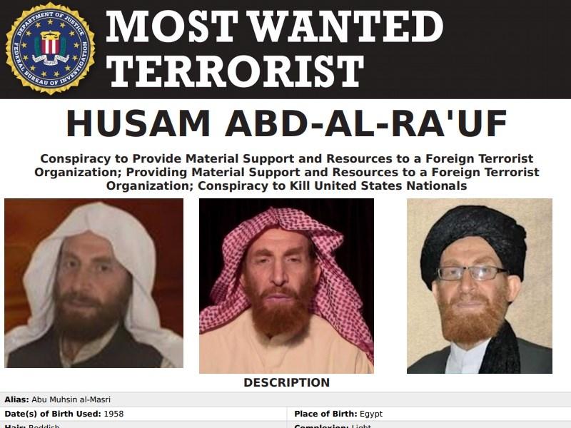 阿富汗國家安全局24日深夜表示,極端組織蓋達高階領袖、美國聯邦調查局恐怖分子通緝要犯馬士禮(圖),已被安全部隊擊斃。(圖取自美國聯邦調查局網頁fbi.gov)