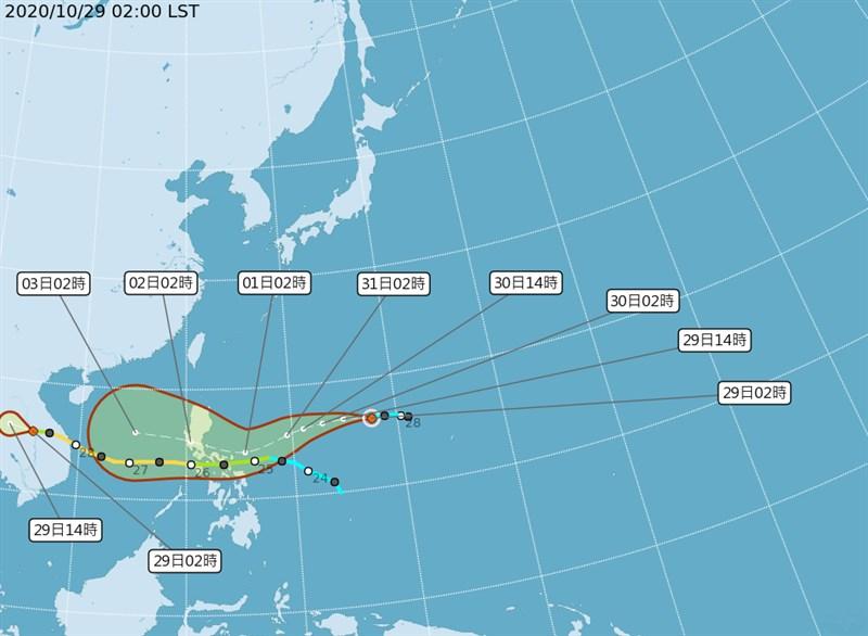氣象局29日凌晨發布輕颱天鵝形成。氣象專家吳德榮表示,天鵝距台灣遙遠,無直接影響。(圖取自中央氣象局網頁cwb.gov.tw)