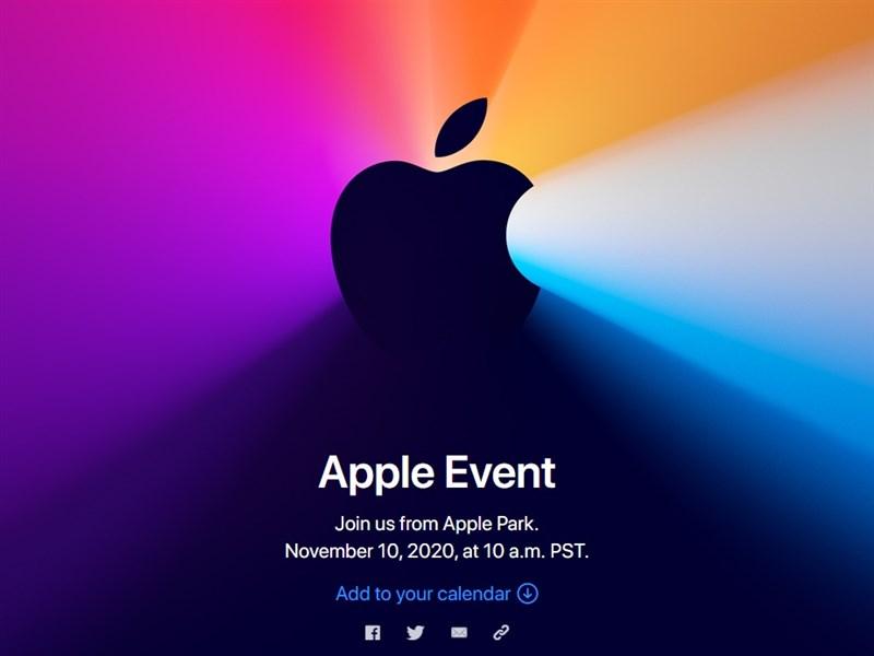 Apple將於台北時間11月11日凌晨2時舉辦線上特別活動。(圖取自蘋果公司網頁apple.com)