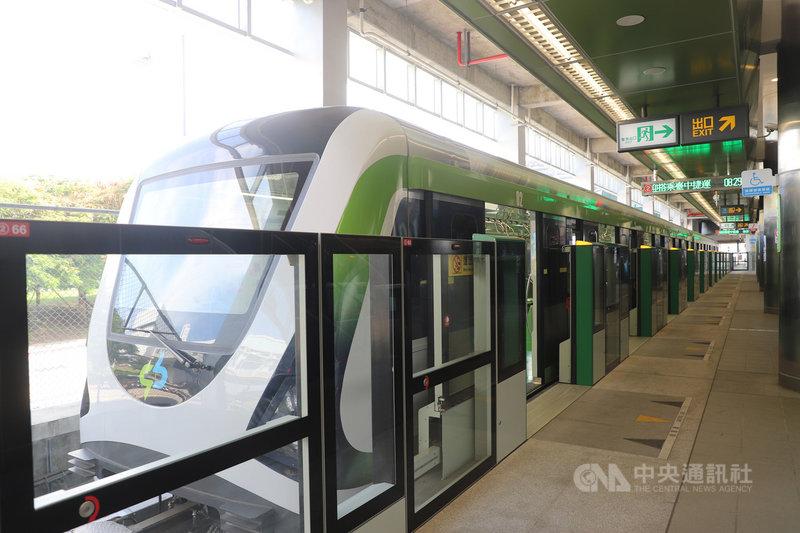 台中捷運綠線16日試營運,但初期僅一條路線,外界擔憂搭乘率不高,虧損將成營運一大挑戰。(台中市政府提供)中央社記者蘇木春傳真 109年11月15日