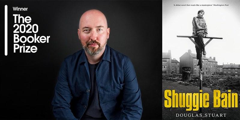 蘇格蘭作家道格拉斯.史都華19日以家鄉格拉斯哥為背景的小說處女作「夏吉.貝恩」(Shuggie Bain,暫譯),獲頒2020年度布克獎。(圖取自twitter.com/TheBookerPrizes)