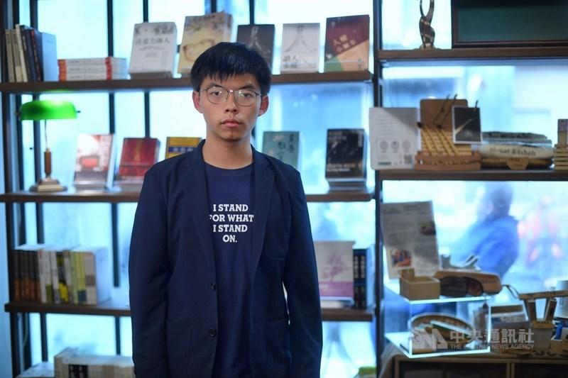 香港眾志前秘書長黃之鋒因2019年參加非法遊行,且違反禁蒙面法,13日遭判刑4個月。(中央社檔案照片)