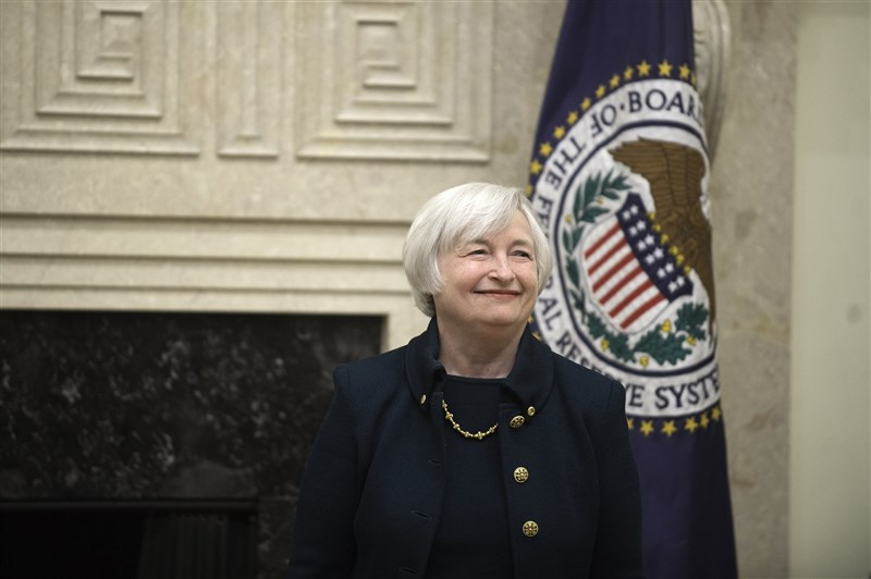 美國總統當選人拜登的交接團隊11月30日發布聲明說,拜登決定提名前聯邦準備理事會主席葉倫(圖)擔任財政部長。(圖取自Federalreserve flickr網頁,版權屬公有領域)