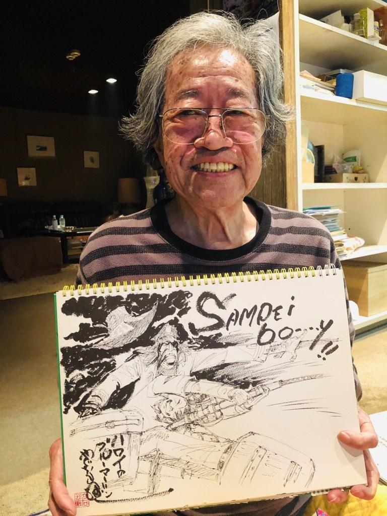 日本漫畫家、「天才小釣手」作者矢口高雄(本名高橋高雄)20日因胰臟癌逝世,享壽81歲。(圖取自twitter.com/yaguchi_takao)