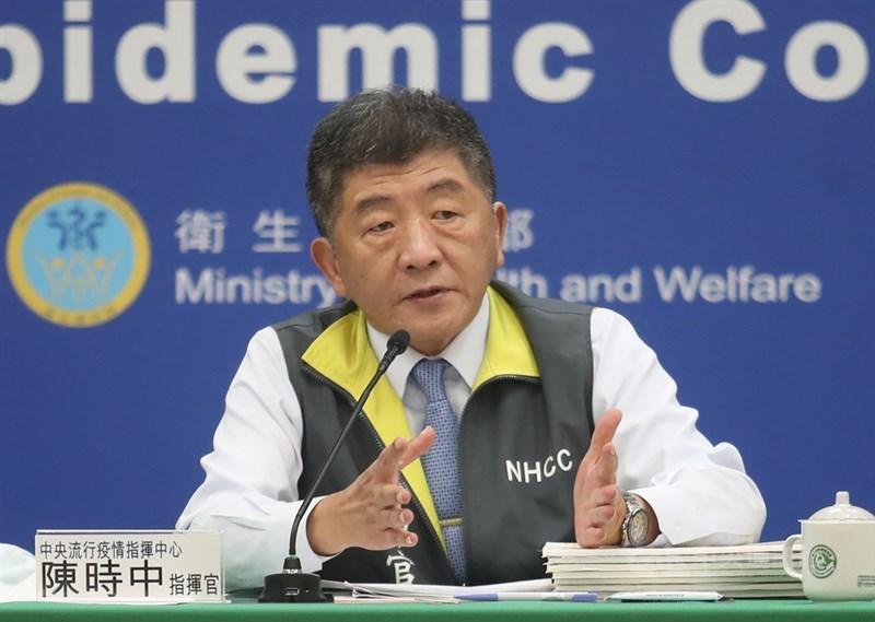 中央流行疫情指揮中心指揮官陳時中6日表示,兩岸貿易法規一直未開放中國疫苗,主要是對製程有疑慮。(中央社檔案照片)