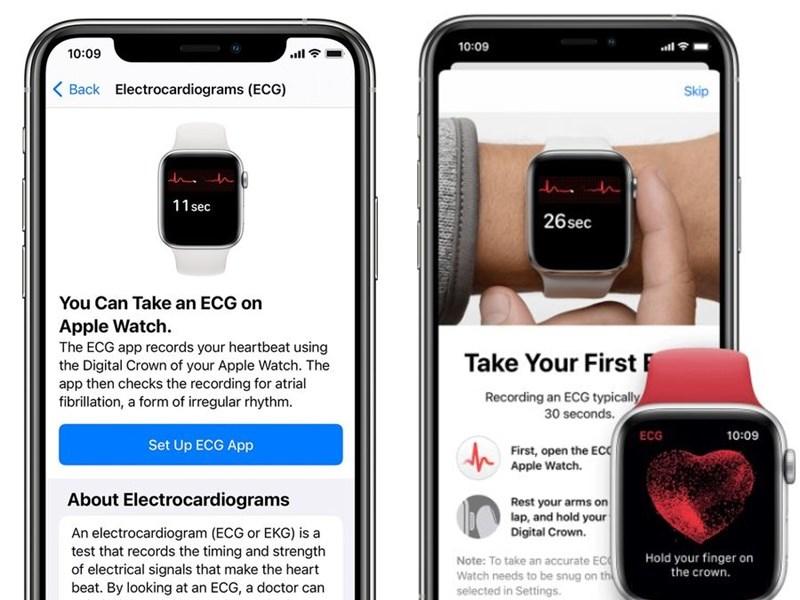 蘋果公司9日宣布,Apple Watch Series 4與後續錶款上的「心電圖」App已獲得衛生福利部食品藥物管理署批准,將於15日起透過iOS 14.3與watchOS 7.2在台灣推出。(圖取自蘋果支援服務網頁support.apple.com)