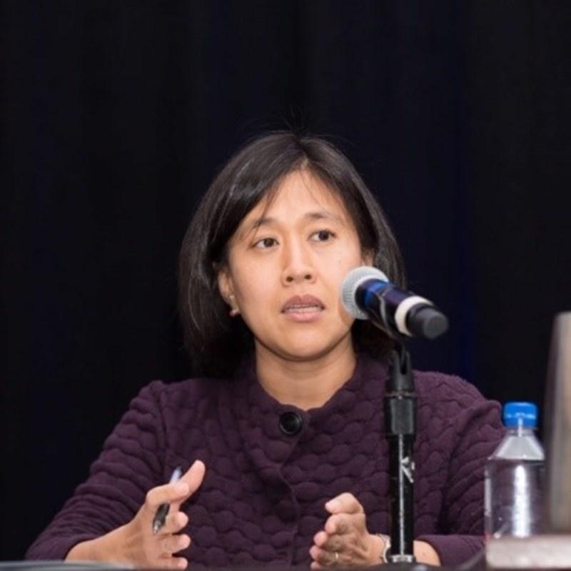 美國各媒體10日披露,美國總統當選人拜登決定找華裔的凱薩琳‧戴(圖)出任美國貿易代表。(圖取自美中貿易全國委員會網頁uschina.org)