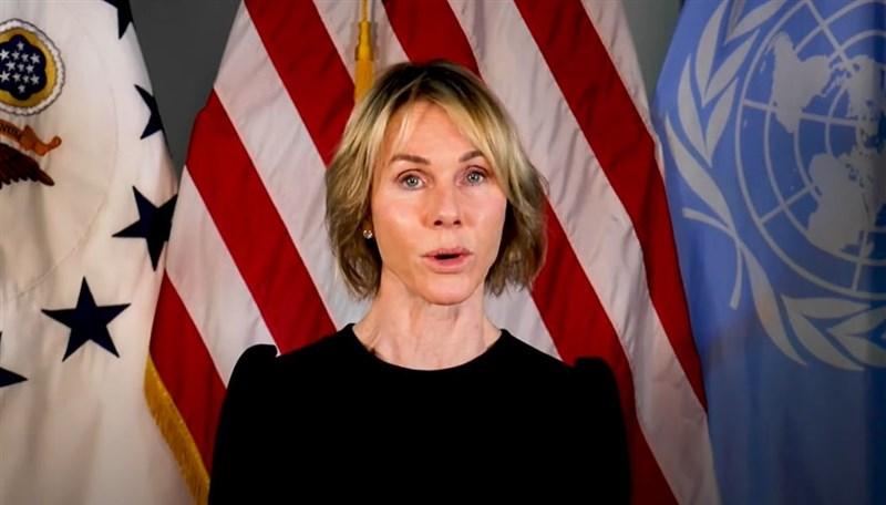 美國在台協會8日說,美國駐聯合國大使克拉夫特13至15日訪台,14日將發表演說,闡述台灣對國際社會的傑出貢獻。(圖取自US Mission to the United Nations [Press] YouTube頻道網頁youtube.com)