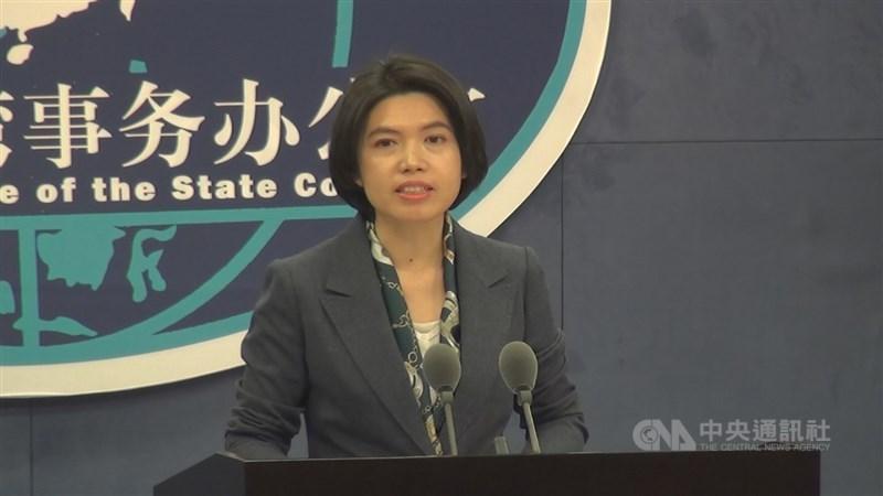 中國大陸國台辦發言人朱鳳蓮13日表示,反對美台進行任何官方往來。中央社記者邱國強北京攝 110年1月13日