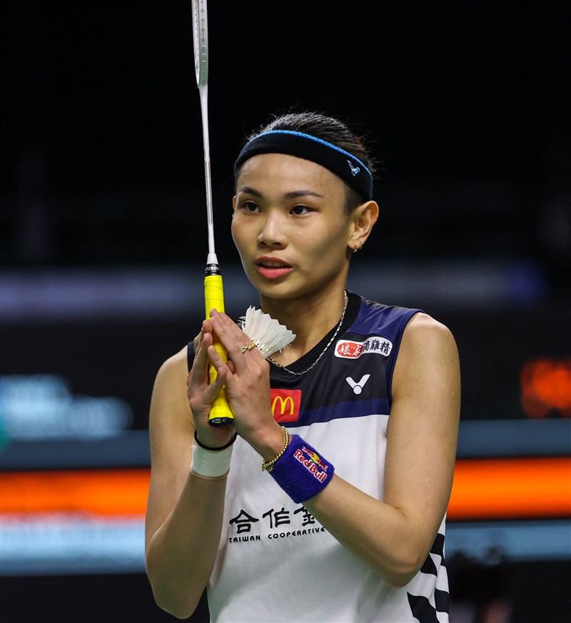 世界球后戴資穎(圖)14日在泰國羽球公開賽女單賽僅用29分鐘輕取對手金佳恩,摘下8強門票。(圖取自facebook.com/bwfbadminton)