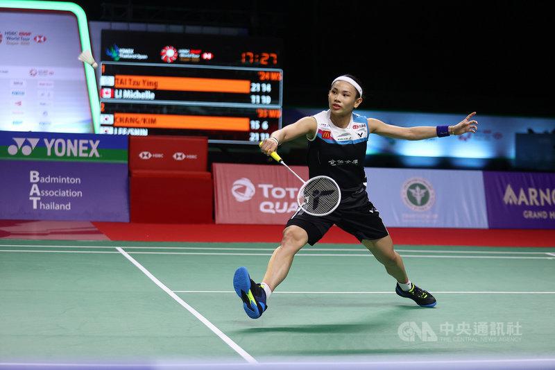 世界球后戴資穎15日在泰國羽球公開賽女單8強賽中,以21比11、21比13輕取加拿大女將李文珊,挺進4強。(泰國羽球協會提供)中央社記者呂欣憓曼谷傳真 110年1月15日