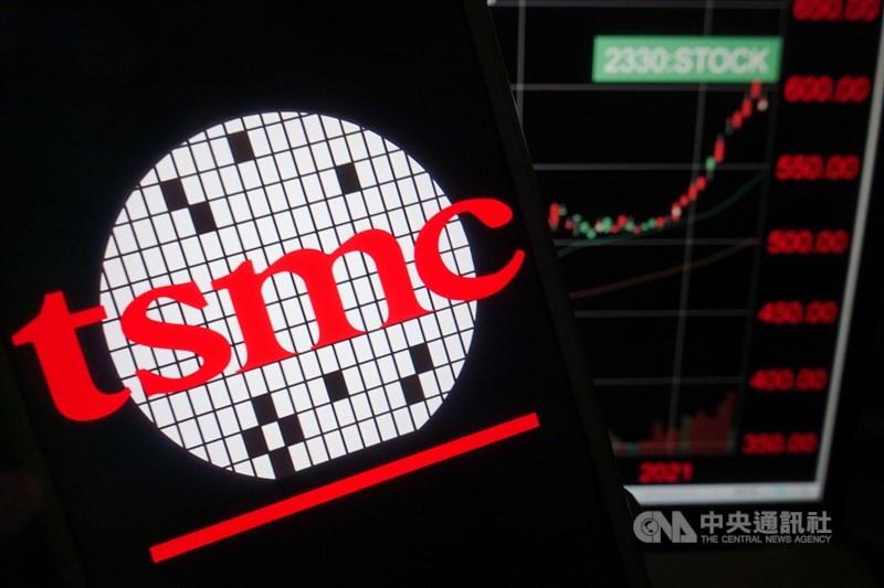 台積電13日股價開盤跳空達新台幣600元,市值攀高至15.55兆元。(中央社檔案照片)