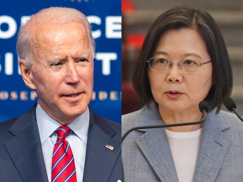 美國總統當選人拜登(左)20日將就職,專家研判,拜登新政府會持續在外交、安全等領域支持台灣。右為總統蔡英文。(左圖取自facebook.com/Transition46,右圖為中央社檔案照片)