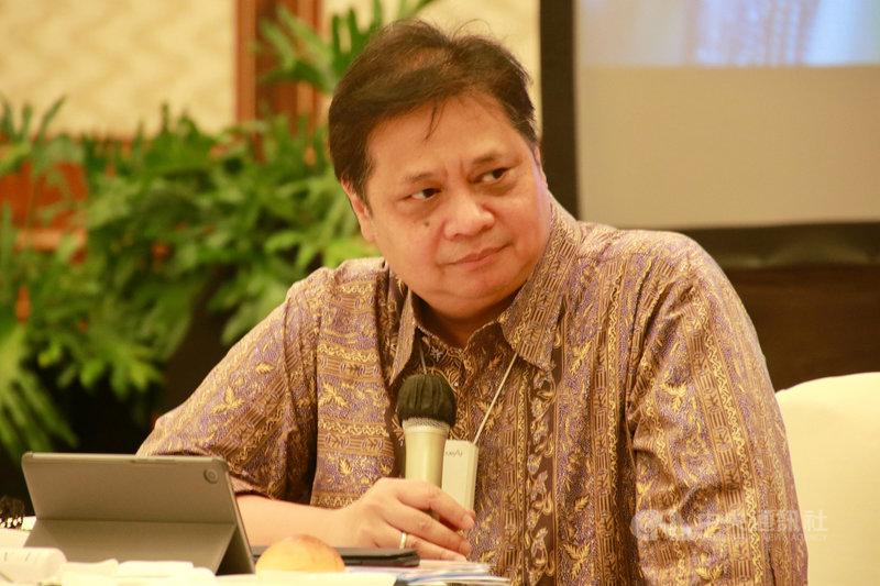 印尼抗疫與國家經濟復甦委員會主席艾朗嘉據傳在2020 年底確診,未曾對外說明。他18日表示捐出恢復期血漿,要幫助染疫者治療,才首度證實染疫。圖攝於2020年9月。中央社記者石秀娟雅加達攝  110年1月20日