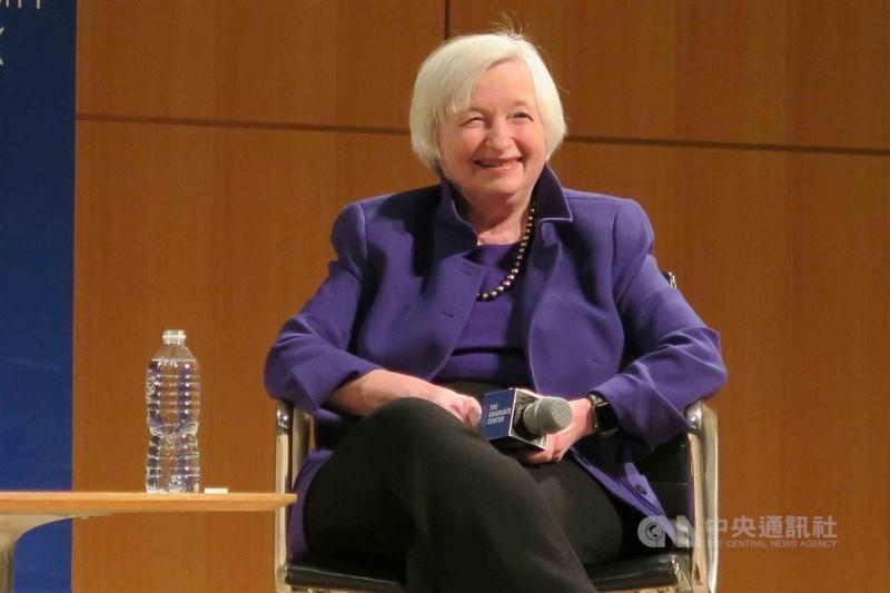 美國聯邦參議院25日表決通過,葉倫成為財政部232年來第一位女性首長。(中央社檔案照片)
