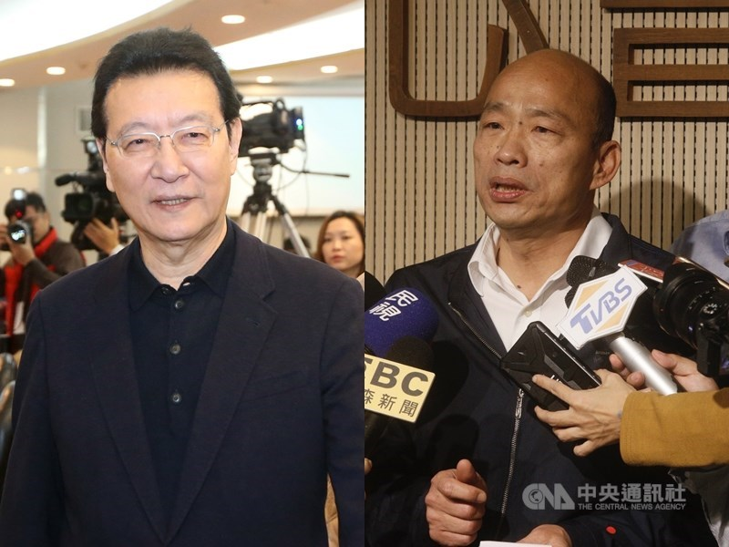 國民黨主席將於7月改選,趙少康(左)17日說,就他的了解,前高雄市長韓國瑜(右)沒有這個計畫。(中央社檔案照片)