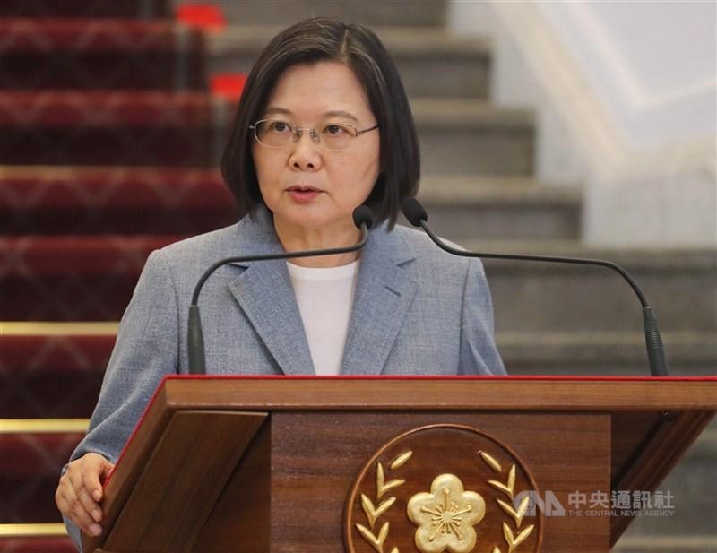 蓋亞那共和國因中國施壓而宣布終止與台灣設立辦公室的協議,總統蔡英文對中國政府的行徑表達抗議與譴責。(中央社檔案照片)