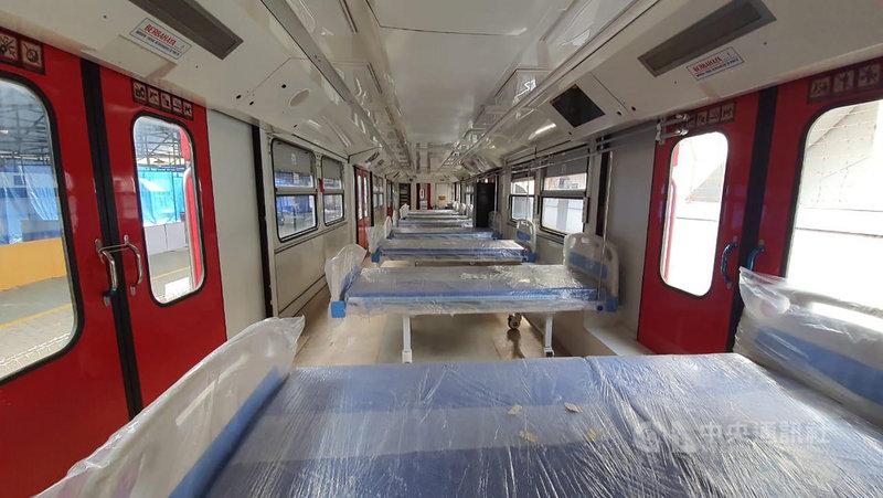 印尼國營列車製造公司INKA將電聯車改裝為負壓隔離病房,協助收治或隔離武漢肺炎患者。(印尼國營列車製造公司INKA提供)中央社記者石秀娟雅加達傳真 110年2月11日