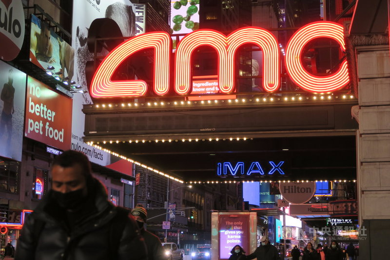 2019冠狀病毒疾病疫情爆發後,紐約市戲院一直無法恢復營業。圖為2020年12月10日曼哈頓西42街AMC電影院景象。中央社記者尹俊傑紐約攝  110年2月12日