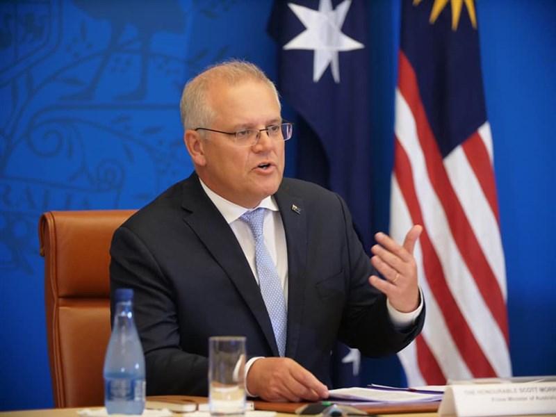 澳洲總理莫里森表示,維多利亞州與中國簽署的「一帶一路」協議沒有好處,可能在數週內取消。(圖取自facebook.com/scottmorrison4cook)