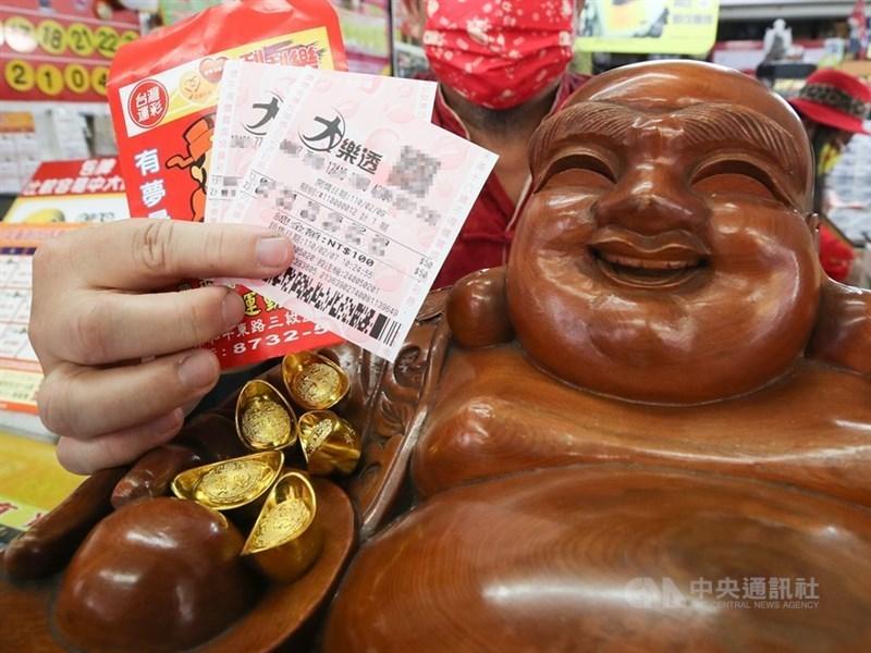 台彩公司大樂透頭獎17日開出,1人獨得新台幣1.07億元獎落台南。(示意圖/中央社檔案照片)