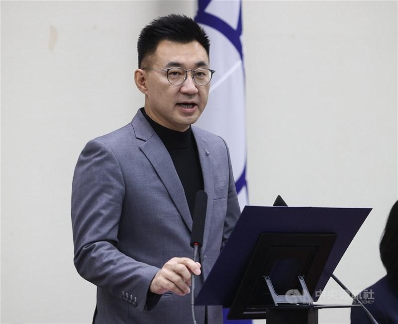 國民黨主席江啟臣20日宣布將投入今年黨主席選舉。(中央社檔案照片)