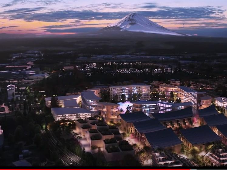 日本豐田汽車為研發包括自動駕駛等未來技術打造的實驗都市「網城」,23日在富士山腳下的靜岡縣裾野市正式動土。(圖取自Toyota Motor Corporation YouTube頻道網頁youtube.com)