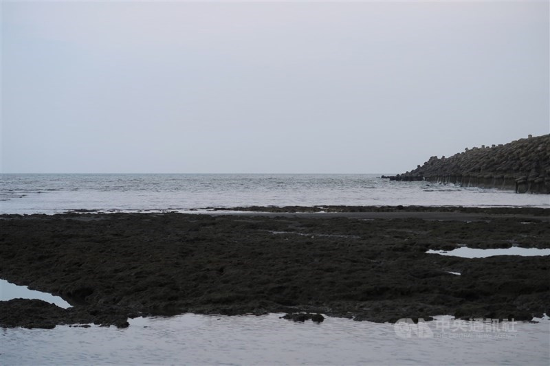 行政院發言人羅秉成25日說,政府對三接態度是全力保護藻礁,開發面積只剩一成,若改採台北港,預計時程將推遲11年。圖為中油規劃興建三接的桃園觀塘工業港周邊環境。(中央社檔案照片)