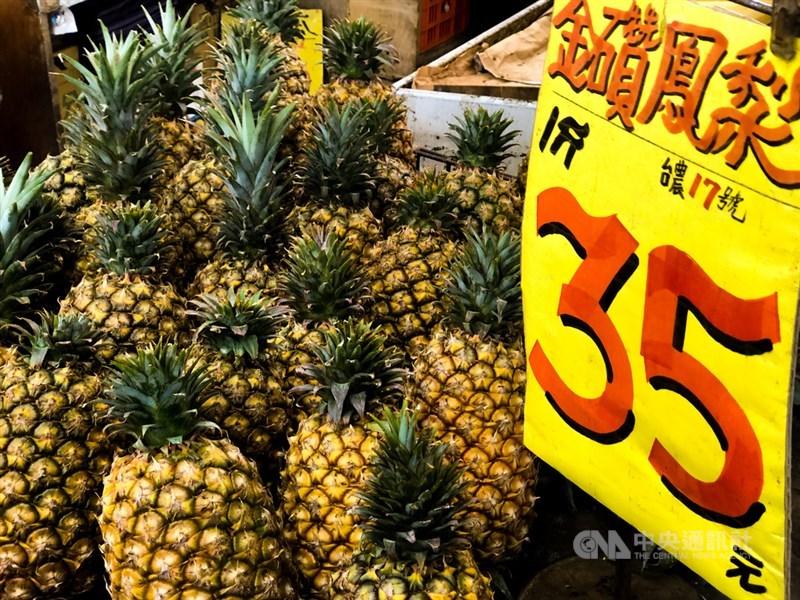 中國宣布3月起暫停進口台灣鳳梨,農委會26日表示,台灣非農產出口大國,量不大,以鳳梨居首,銷中量占總產量約1成,拉抬1成銷量可穩價。中央社記者王騰毅攝 110年2月26日