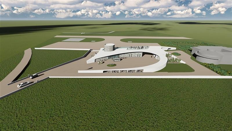 七美、望安、蘭嶼、綠島4座離島機場將大改造,日本知名建築師團紀彥獲邀參與,要讓機場醜小鴨變天鵝,未來七美機場有雙心石滬意象。此為示意圖。(民航局提供)中央社記者汪淑芬傳真 110年2月27日