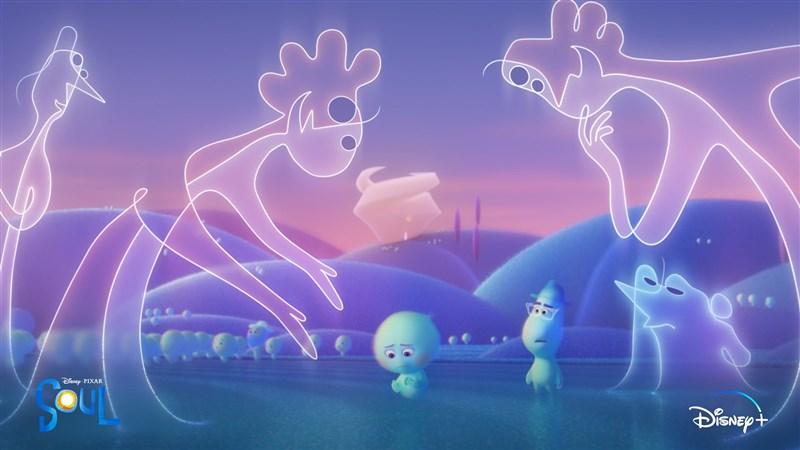 第78屆金球獎頒獎典禮28日透過線上舉行,皮克斯的「靈魂急轉彎」獲頒最佳動畫片。(圖取自twitter.com/PixarSoul)
