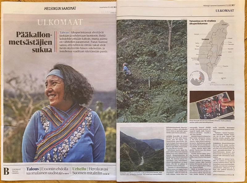 布農族的Panay Kumod帶著芬蘭「赫爾辛基日報」記者回到山上家屋,敘說台灣原住民在大時代變遷下的小人物故事。(芬蘭代表處提供)中央社記者辜泳秝傳真 110年3月2日