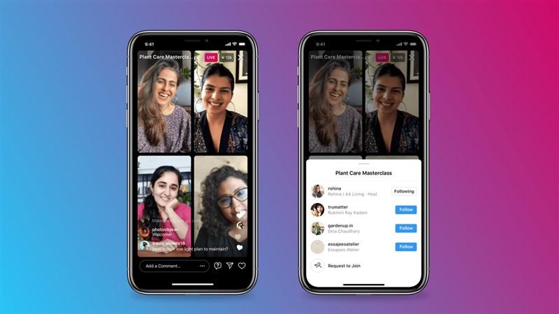 Instagram 1日開始啟用Live Rooms功能,允許多達4人在虛擬「房間」直播。(圖取自IG官方網頁about.instagram.com)