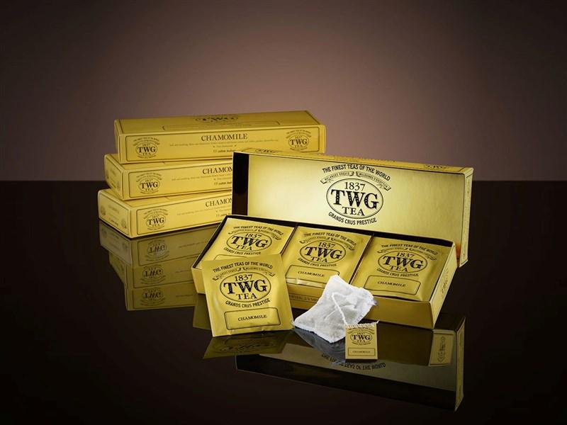 食藥署2日公布最新邊境查驗不合格名單,知名茶品牌TWG洋甘菊茶被驗出農藥違規,產品通通遭退運銷毀,並未流入市面。(圖取自TWG網頁twgtea.com)