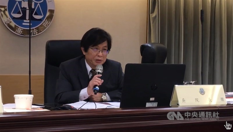 針對最高法院有法官捲入富商翁茂鍾案,最高法院院長吳燦(圖)4日表示歉意。(中央社)