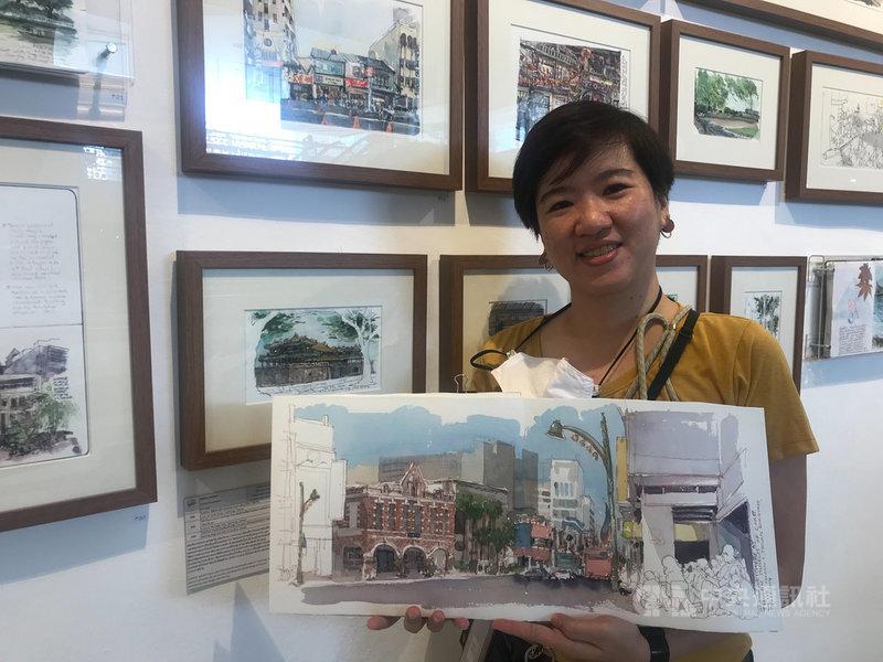 泰國插畫家皮緹拉(Pitirat Yoswattana)2018年造訪台灣,她用手繪方式畫下在台灣的所見所聞。中央社記者呂欣憓曼谷攝 110年3月5日
