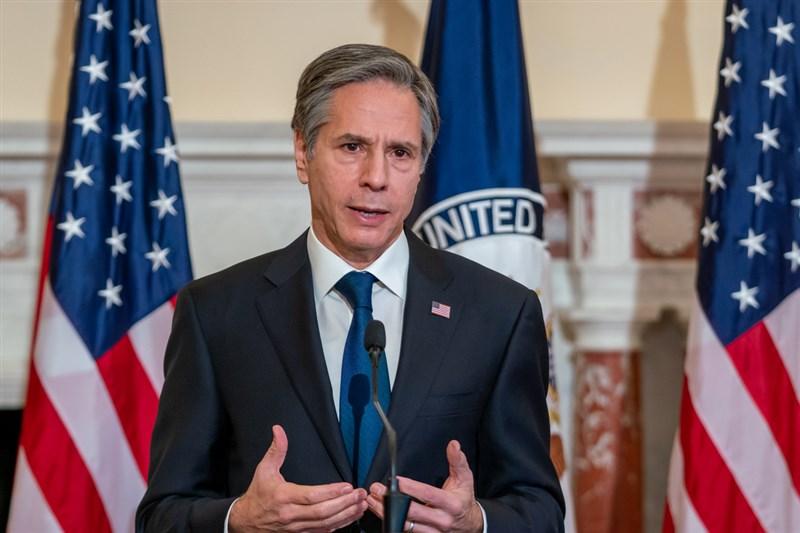 美國國務卿布林肯(圖)等外交高層18日將於阿拉斯加與中方會晤,美國資深官員表示,會向中方直接提出包括新疆、香港、中國對台施壓等議題。(美國國務院提供)