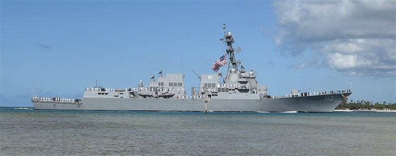 國防部11日表示,美軍一艘驅逐艦由北向南航經台灣海峽,據美國第七艦隊臉書粉絲團貼文,通過美艦為勃克級驅逐艦芬恩號(圖)。(圖取自美國印太司令部網頁pacom.mil)