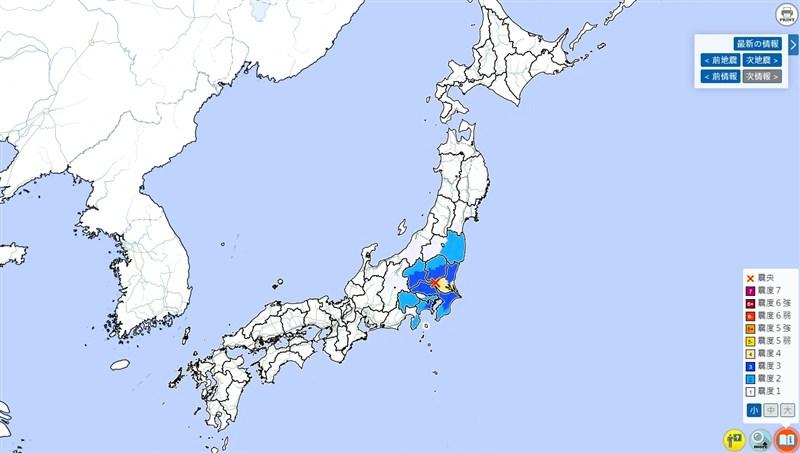 NHK報導,東京以北的中部茨城縣16日凌晨4時56分(台灣3時56分)發生地震,初測規模4.8。(圖取自日本氣象廳網頁jma.go.jp)