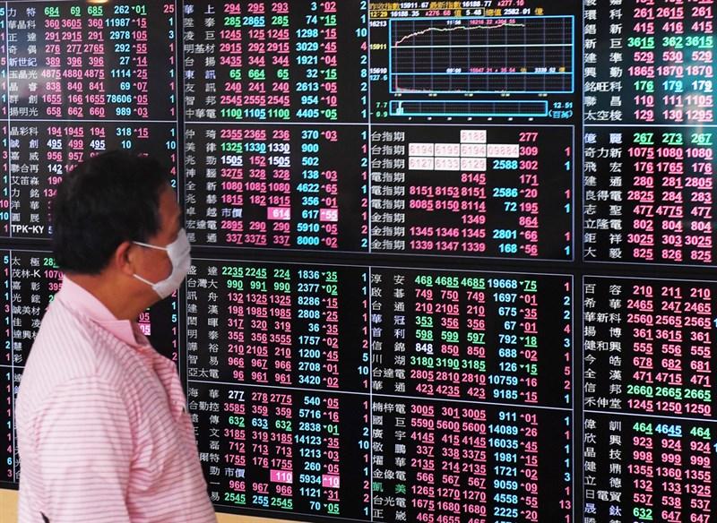 美國股市4大指數反彈,權值電子股台積電26日盤中漲幅超過2.2%,帶動台股站回萬六關卡,指數一度大漲超過180點。(中央社檔案照片)