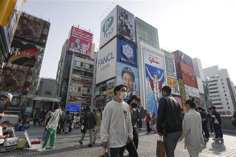 日本的2019冠狀病毒疾病疫情延燒,大阪府時隔兩個月今天又見單日新增逾400例確診。圖為29日大阪街景。(共同社)