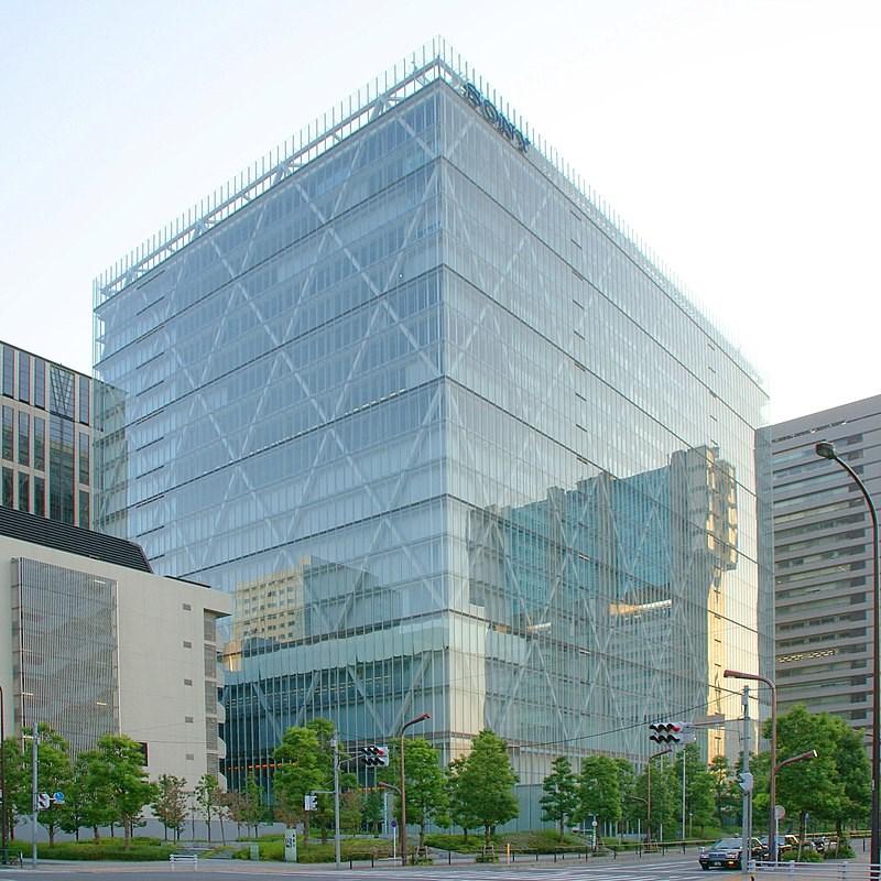 日本索尼公司1日更名為索尼集團公司(Sony Group Corp.),是逾60年來首度改名。圖為Sony東京總部大樓。(圖取自維基共享資源;作者:Shuichi Aizawa,CC BY 2.0)