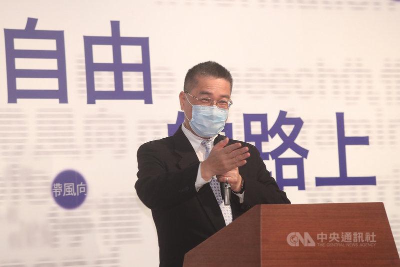 內政部長徐國勇7日在二二八國家紀念館,出席言論自由日系列活動「言論自由的路上」開幕儀式。中央社記者吳家昇攝  110年4月7日