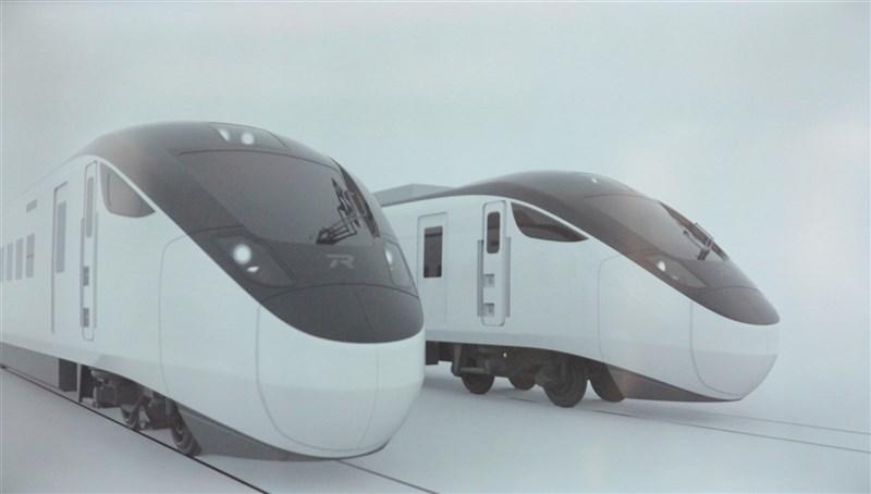 台鐵新採購的城際列車由日商設計團隊設計,整體以黑白灰為主要色系,展現簡約設計美學。(翻攝照片)中央社記者張祈傳真 108年11月30日