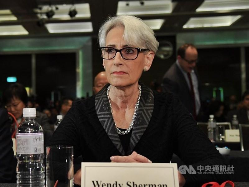 美國副國務卿雪蔓(圖)提名案13日獲參議院通過,她曾在提名聽證會上主張美國與中國競爭,並在南海、人權議題上與之對抗。(中央社檔案照片)