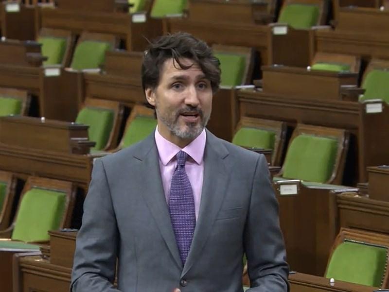 加拿大眾議院14日通過提案,同意蔡英文是HFX論壇「馬侃獎」理想人選;總理杜魯道(圖)表示會持續贊助HFX。(圖取自加拿大國會聽證會及司政證詞線上直播網頁parlvu.parl.gc.ca)