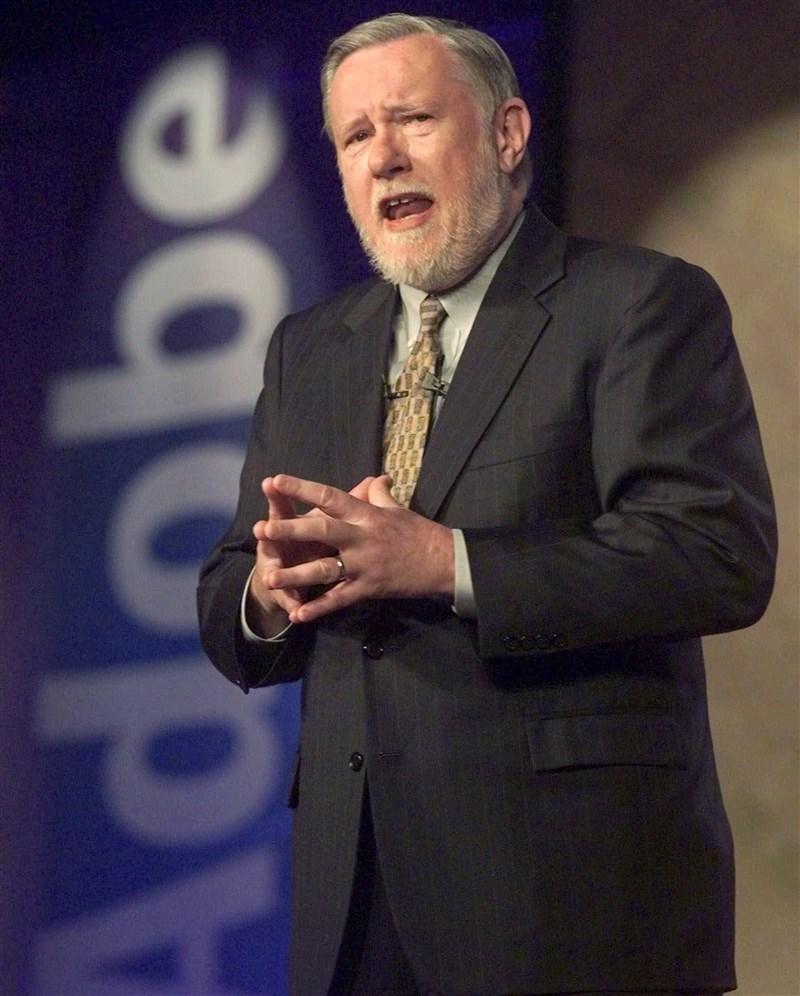 美國軟體大廠奧多比公司(Adobe Inc)表示,共同創辦人蓋希克16日辭世,享壽81歲。(美聯社)