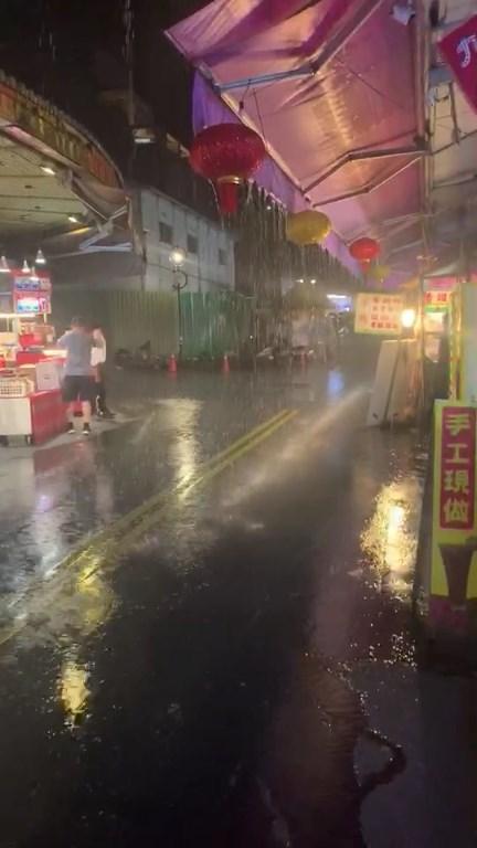 南投縣竹山、鹿谷等鄉鎮部分地區18日降午後對流雨,日月潭晚間也降雨。(翻攝照片)