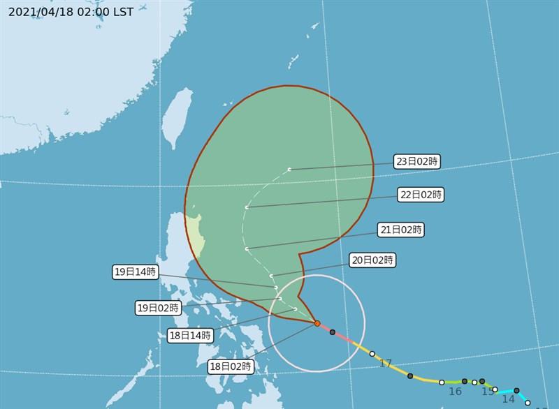 氣象專家吳德榮表示,颱風舒力基預估18至19日兩天發展至最強,22日外圍環流將對東半部造成明顯降雨,但無助於背風面桃園以南水情。(圖取自中央氣象局網頁cwb.gov.tw)